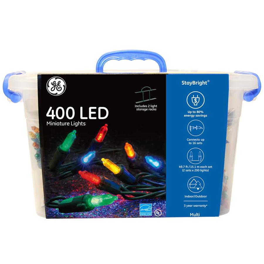 91055 Ge Staybright 174 Led Miniature Lights 400ct Multi