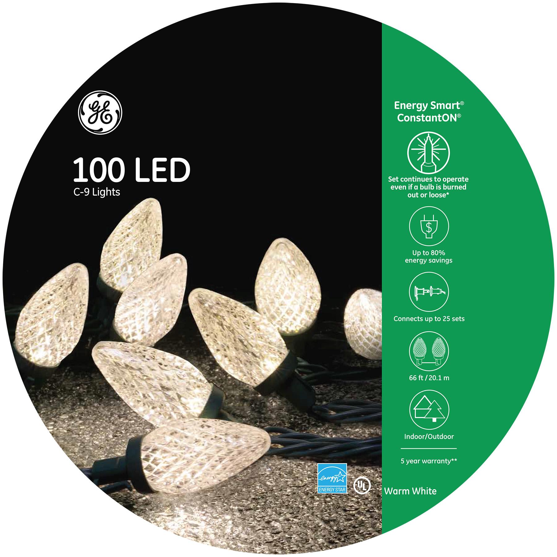 97732 Ge Energy Smart 174 Led C 9 Lights 100ct Warm White