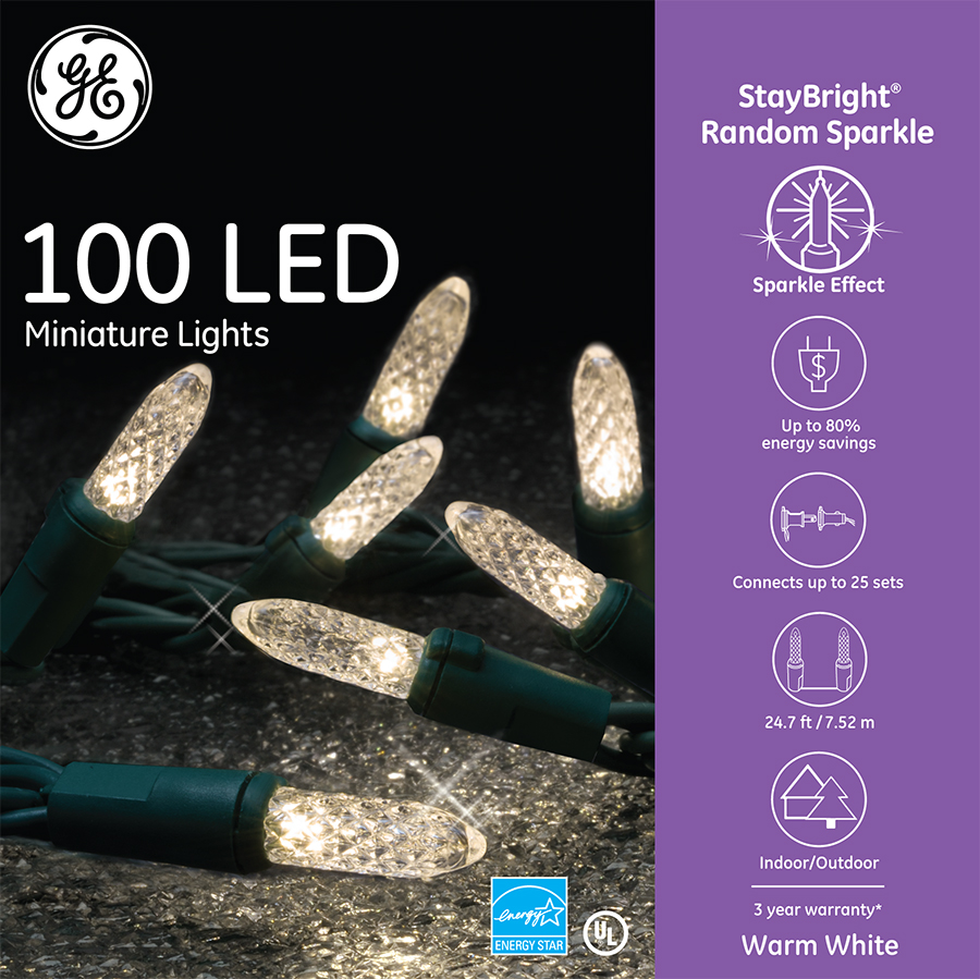 94036 - GE StayBright® Random Sparkle LED Miniature Lights ...