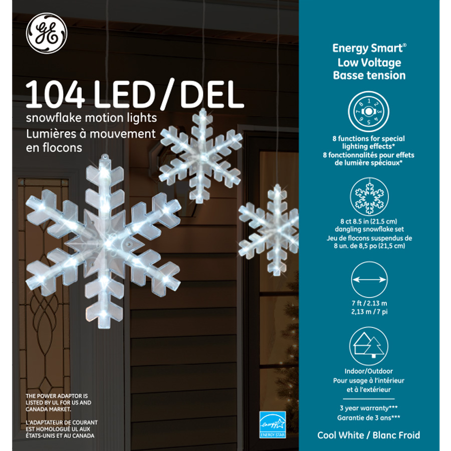 88820 Ge Energy Smart 174 Low Voltage Led Snowflake Motion