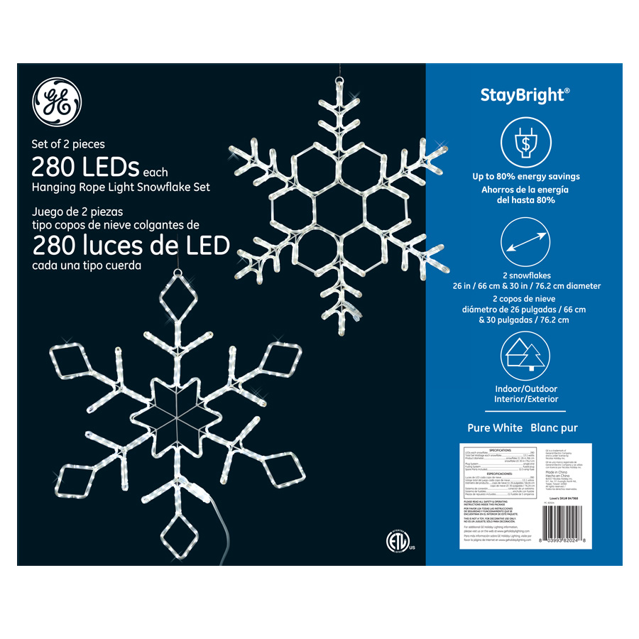 Rope Light Snowflake 82024 ge staybright led hanging rope light snowflake set 2 pack 82024 ge staybright led hanging rope light snowflake set 2 pack 280ct pure white audiocablefo