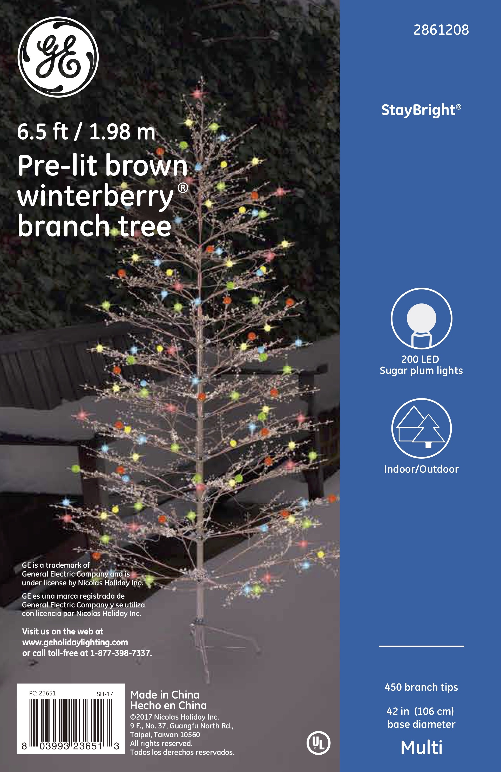 23651 Ge Brown Winterberry 174 Branch Tree 6 5 Ft Energy